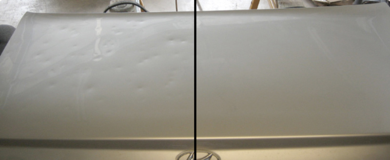 Before and After Hail Repair Lubbock TX